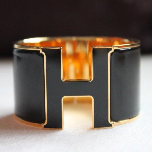 flycandy hermes extra wide H Bracelet