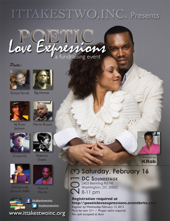 "IT TAKES TWO INC PRESENTS ""LOVE EXPRESSIONS"" TICKETS ON SALE NOW"